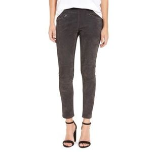 Blank NYC Gray Suede Ponte Ankle Pull On Legging